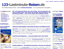 Tablet Preview of 123-lastminutereisen.de